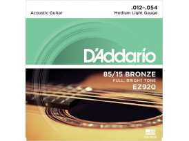 D'Addario bronze 85/15 medium light