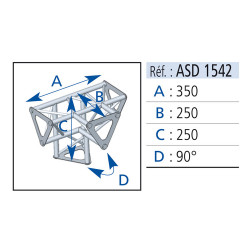 ANGLE 4D 90° SECTION 150 ALU ASD