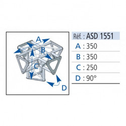 ANGLE 5D 90° SECTION 150 ALU ASD