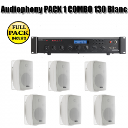 Audiophony PACK 1 COMBO 130 Blanc