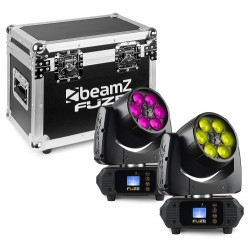 BeamZ Pack 2 x Fuze610Z Wash 6x10W