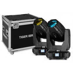 BeamZ PACK 2 x LYRE TIGER 18R BSW