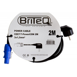 Briteq PowerCON 3G1,5 2m