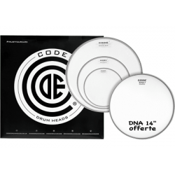 CODE DRUMHEADS Tom - DNA Rock Pack