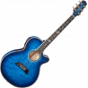 Takamine - Quilt Dark Blue Sunburst Thinline